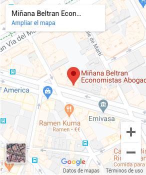 Ubicación oficina Valencia