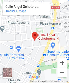 Ubicación oficina en Almería